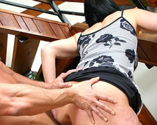 Kinky housewife loves eating cock and fuck her ass off