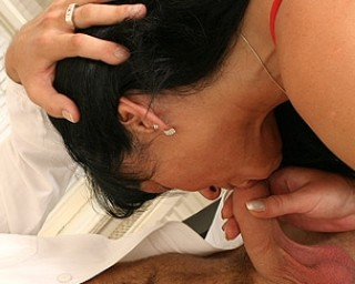 She just love to suck the cum right out of your cock