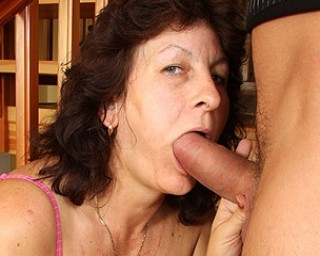 Mama just loves to suck cock and fuck her ass off
